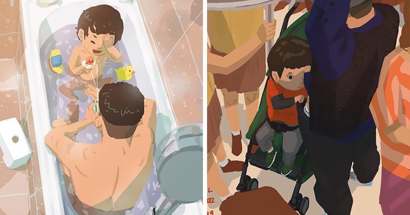 Отец-одиночка рассказывает в комиксах о радостях родительства (40фото)