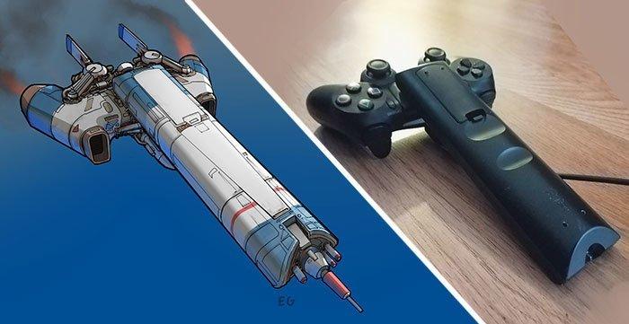 Художник превращает обычные предметы в дизайн космических кораблей (17фото)