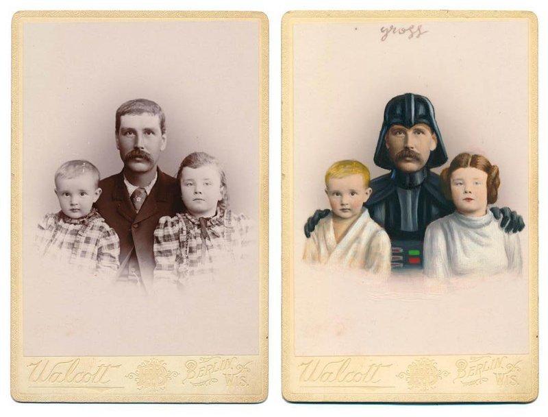 Художник превращает людей викторианской эпохи в героев поп-культуры (26фото)