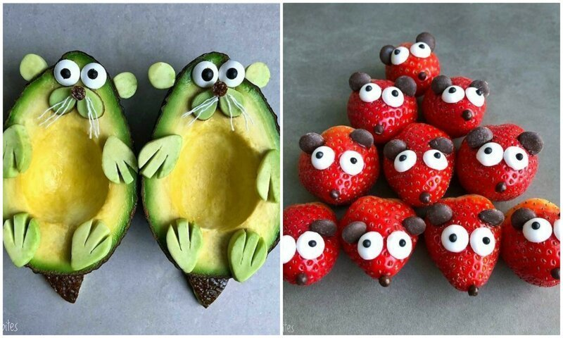 Чудесные персонажи из фруктов: таких милашек и съесть жалко (21фото)