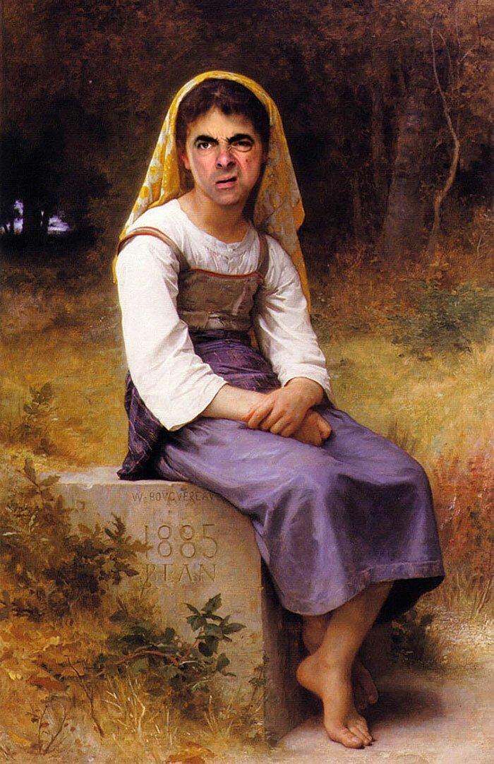 Мистер Бин стал лицом знаменитых портретов (10фото)