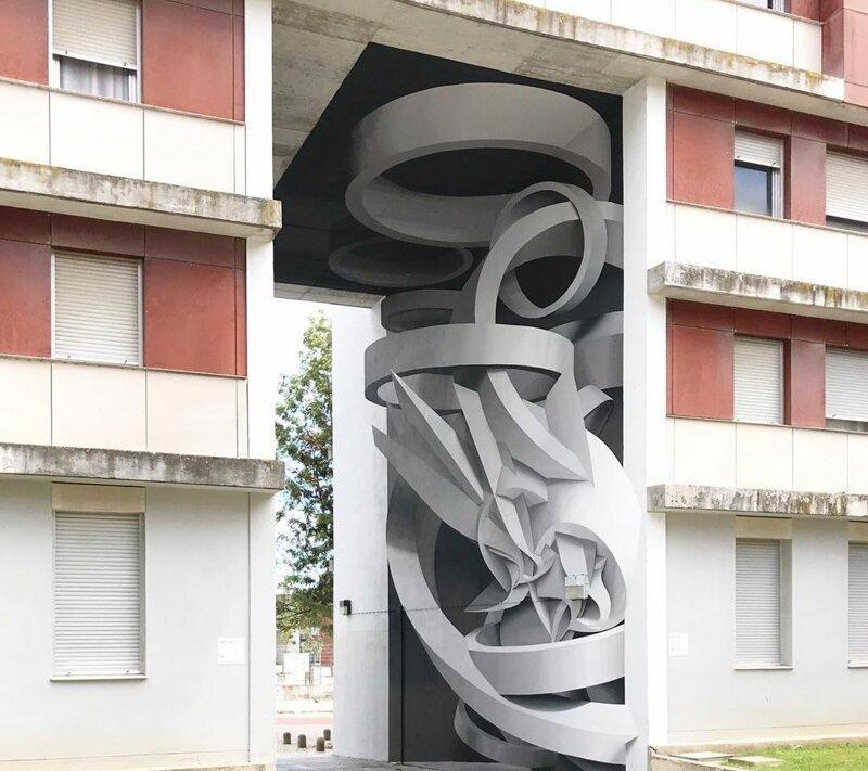 Итальянский художник с помощью 3D-иллюзий