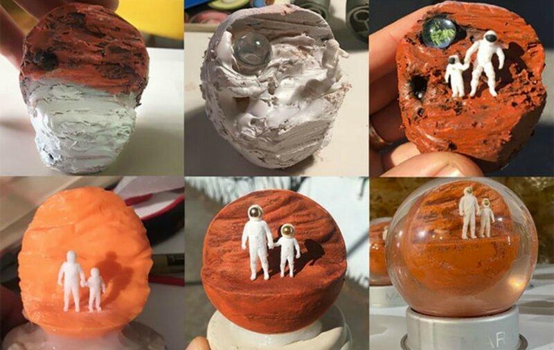 Художник воссоздал пылевую бурю на Марсе в стеклянном шаре (5фото+1гиф)