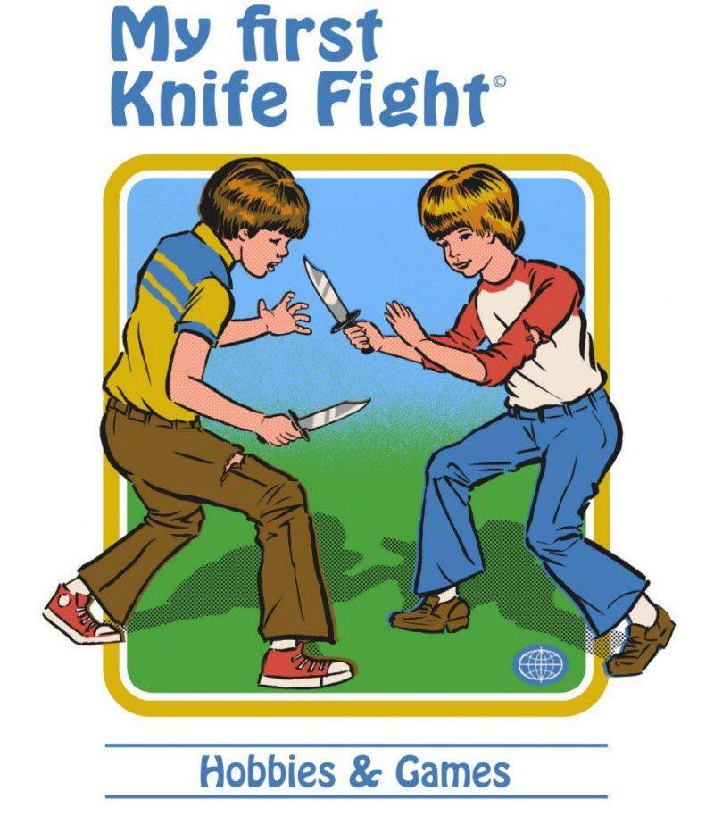«Мой первый бой на ножах» и «Как ухаживать за котом-демоном»: обложки детских книг от Стивена Родса (29 фото)