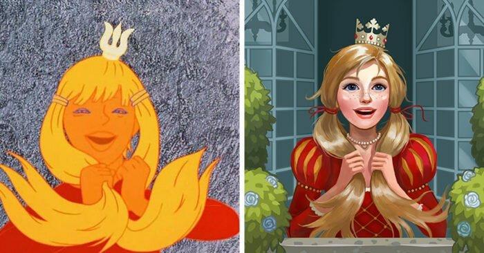 Наш ответ Диснею: художница вдохнула новую жизнь в принцесс советской анимации, и это просто вау (17фото)