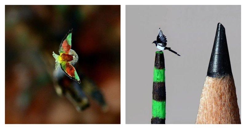 Девушка создает настолько миниатюрных птиц, что окружающий мир перестает существовать (21фото)