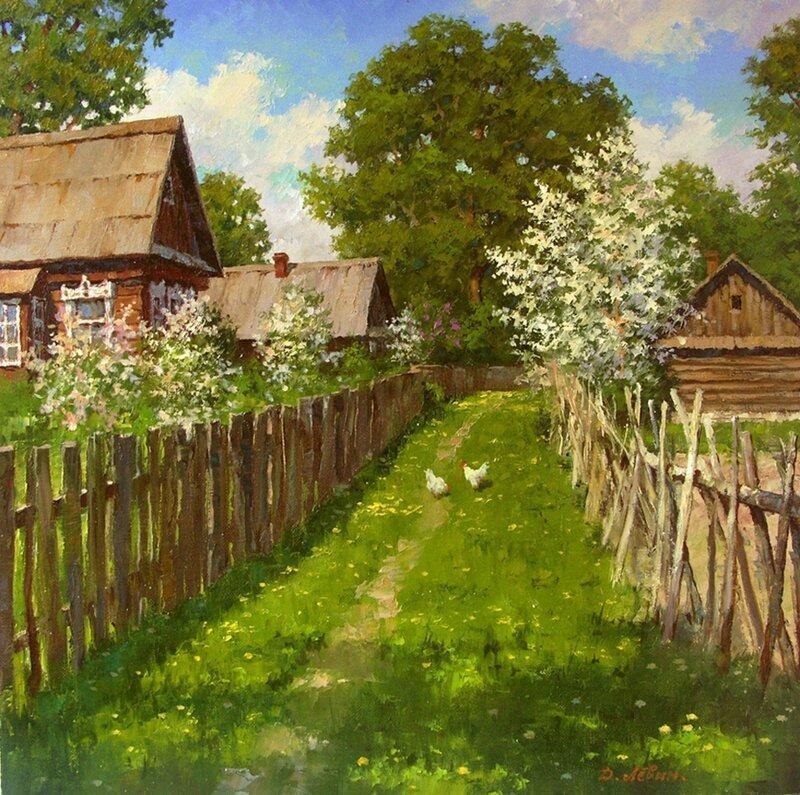 Вдали от суеты: деревенская живопись Дмитрия Лёвина (15фото)