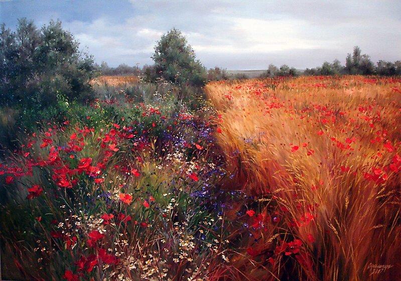 Чудесные цветочные пейзажи Ольги Одальчук (17фото)