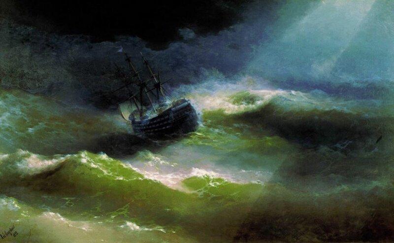 Гипнотизирующие полупрозрачные волны бушующего моря в картинах Ивана Айвазовского (10фото)