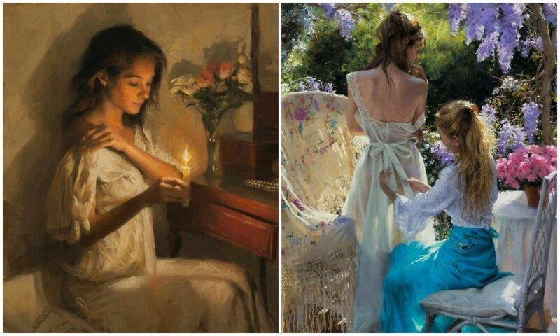 Нежная красота женщины в картинах Висенте Ромеро Редондо (36фото)