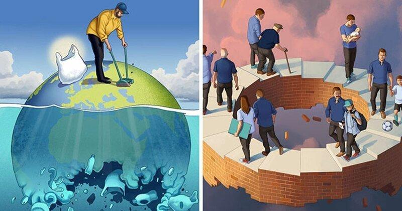 Что не так с нашим обществом: 40 честных иллюстраций Даниэля Гарсии (41фото)
