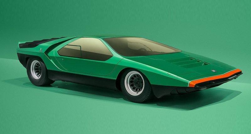 Автомобили, похожие на космические корабли:? ретро концепт-кары из Италии (9фото)