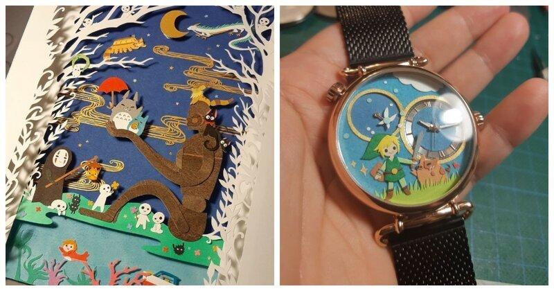 Художница создает бумажные элементы декора, вдохновленные студией Ghibli и поп-культурой (51фото)