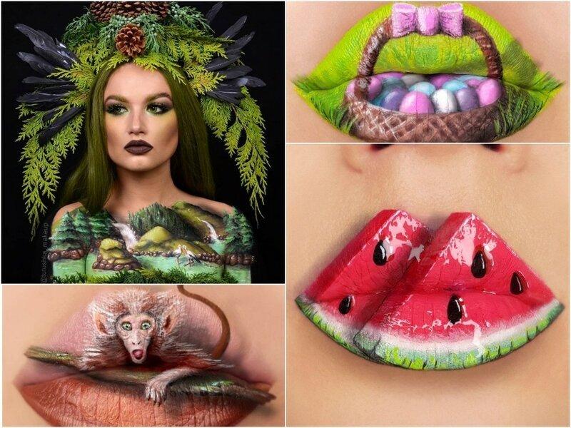 Визажист из Украины превращает губы в произведения искусства (21фото)
