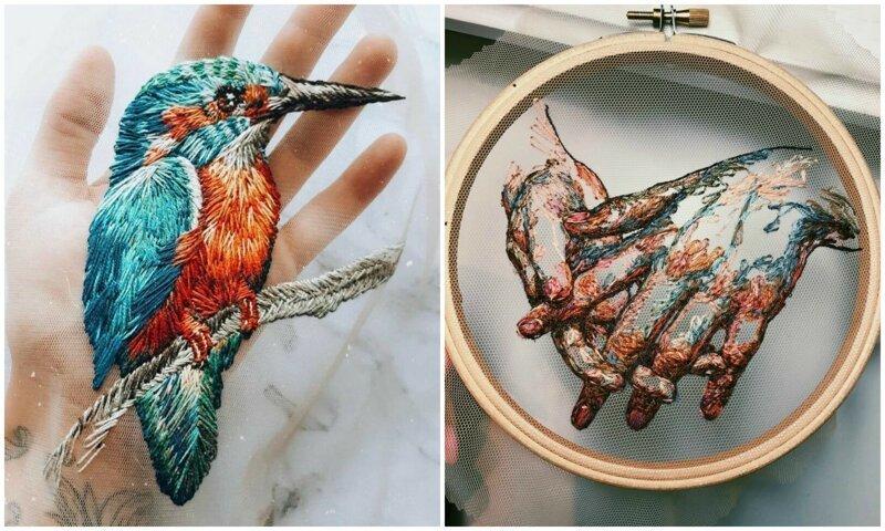 Московская мастерица вышивает нитяные шедевры на тюле (40фото)