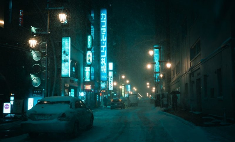Фотограф провел 3 недели в Японии и снял фотографии, вдохновленный киберпанком и нуаром (70фото)