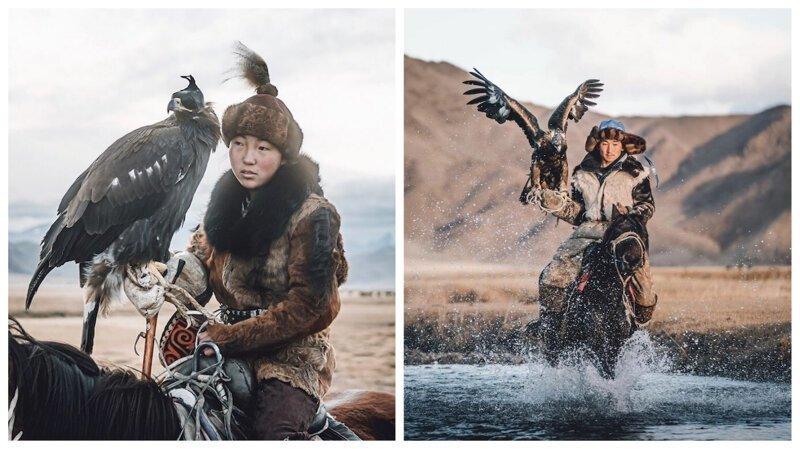Удивительные фотографии соколиной охоты в Монголии (11фото)