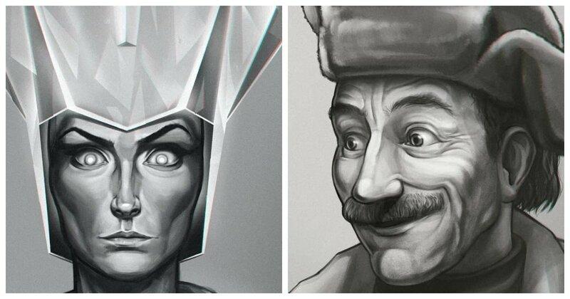 Взгляд по-новому: герои советских мультфильмов (7фото)