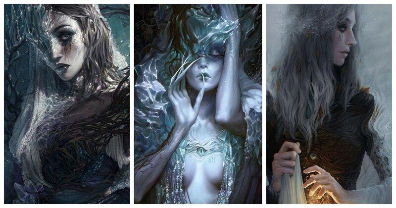 Времена года: месяцы в виде мистических людей (13фото)