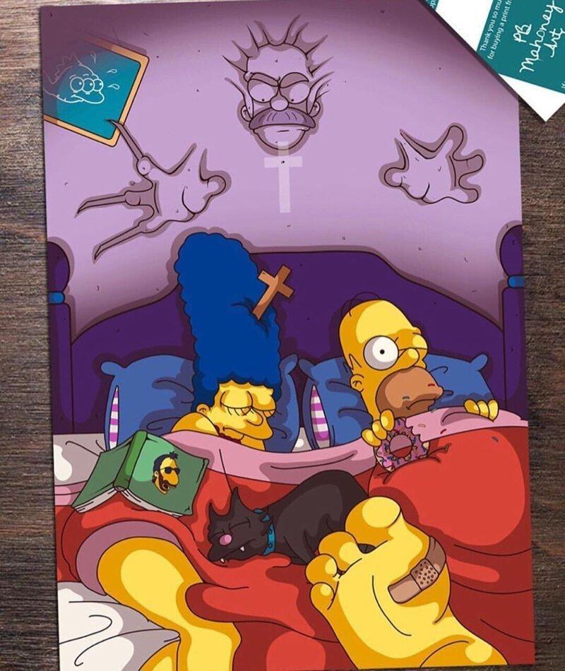 Симпсоны в ужастиках (9фото)