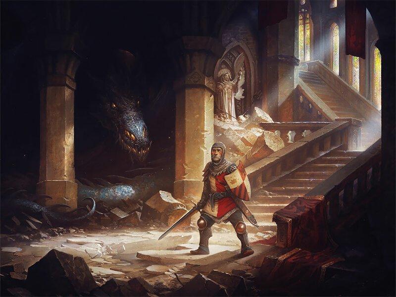 Драконья чума: великолепные фэнтезийные работы Джастина Джерарда (24фото)