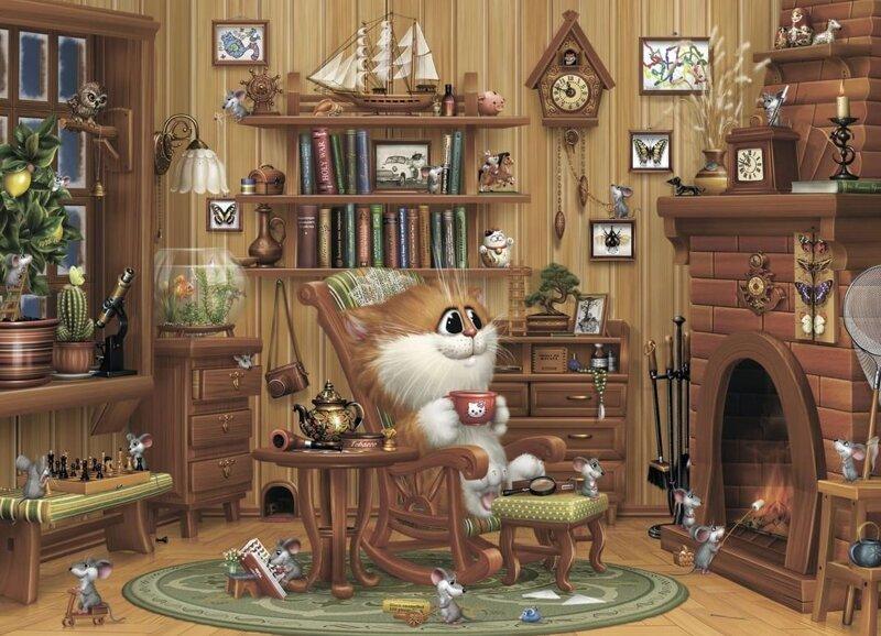 Коты художника Алексея Долотова (27фото)