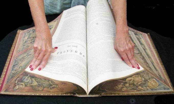 Что скрывают картины на обрезах старинных книг? (5фото+1видео)