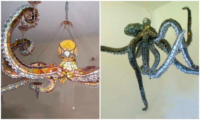 Люстры в виде осьминогов - как вам такой креатив? (13фото)