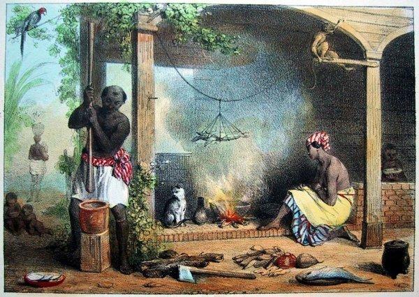 Рабство в Америке на картинах художников (38фото)
