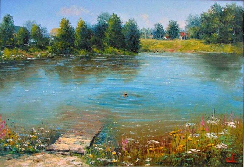 Картины художника Евгения Синева (16фото+1видео)