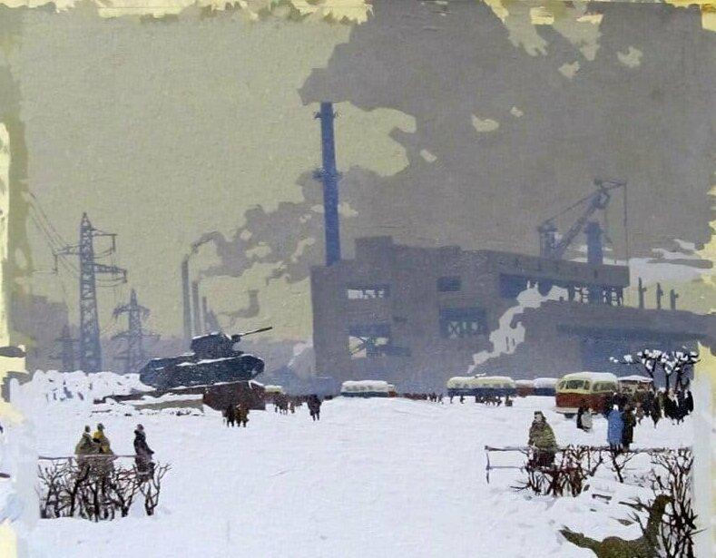 Города и сёла в советских картинах (34фото)