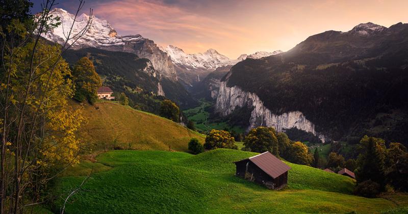 Величественная красота долины Лаутербруннен (13фото)