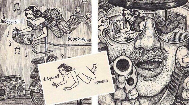 Художник обыграл старинный новогодний набросок с обнажённой женщиной (23фото)