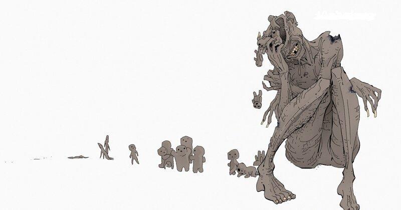 Художник изобразил 9 психических заболеваний и расстройств в обличье монстров (9фото)
