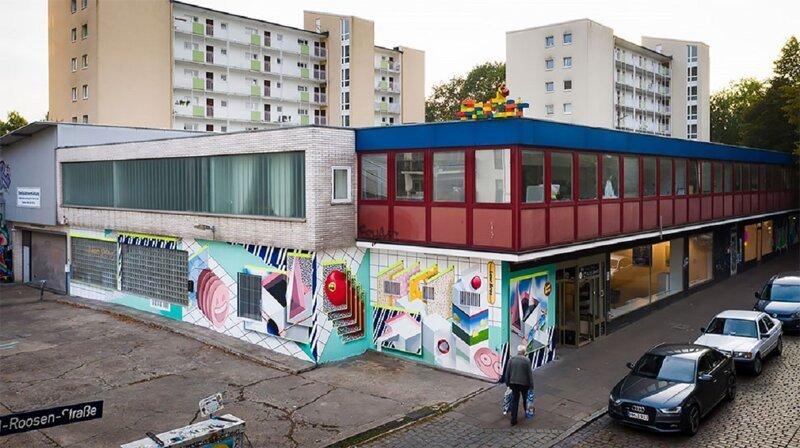 Немецкие мастера граффити приобщили супермаркет к футуризму (13фото)