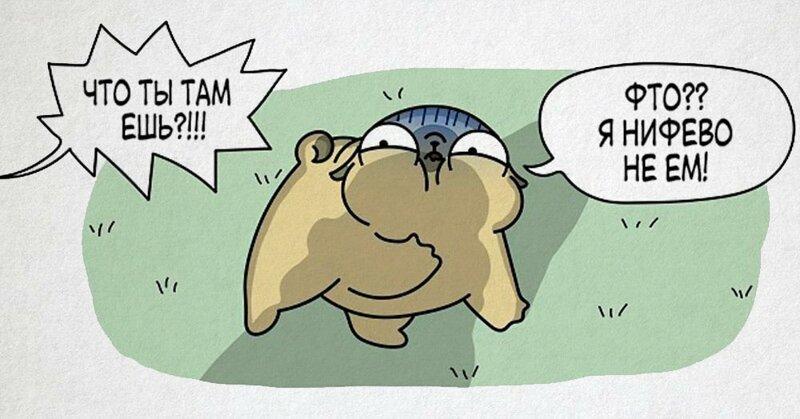Очаровательные комиксы, которые расскажут о жизни с мопсом (17фото)
