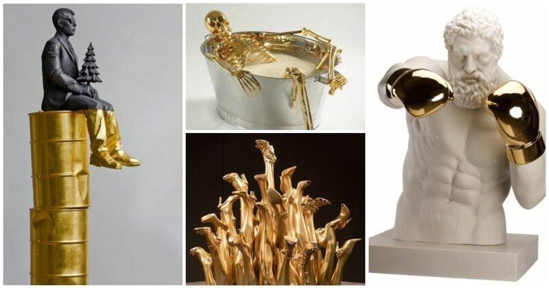 Тот случай, когда скульптор обожает золото (31фото)