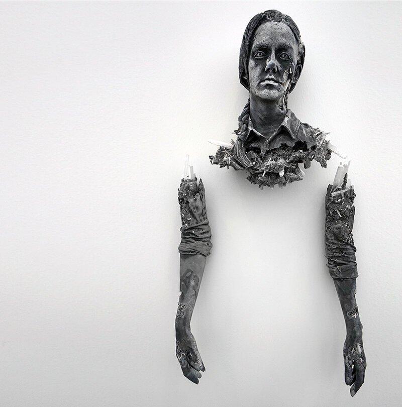 «Найденная» скульптура из кристаллов и вулканического пепла (14фото)