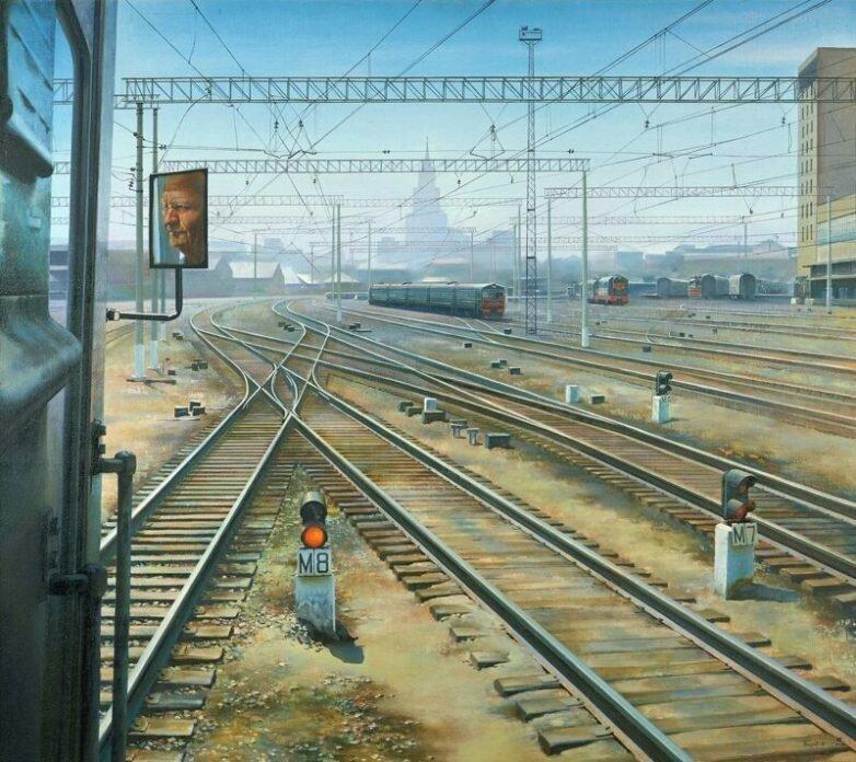 Поезда СССР на картинах советских художников (30фото)