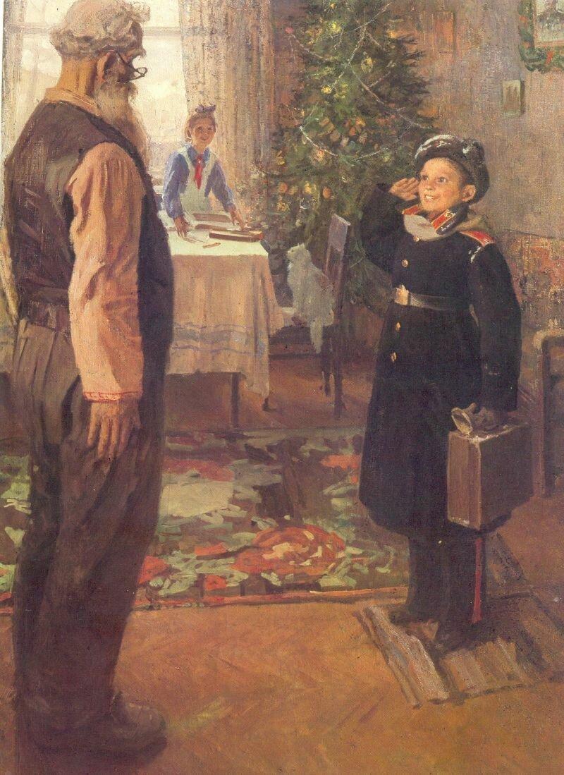 Приключения советской новогодней картины с котиком (9фото)