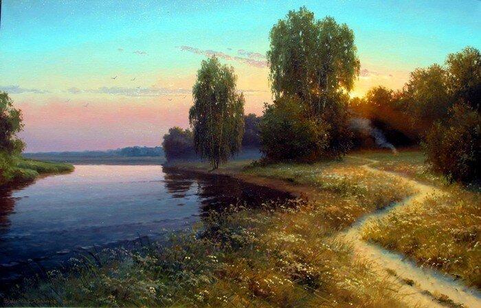 Уголки русской природы, художник Вячеслав Хабиров (17фото)
