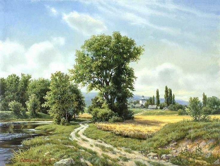 Живописные пейзажи Михаила Сатарова (23фото)