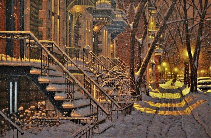 Канадский художник пишет удивительные зимние пейзажи (17фото)