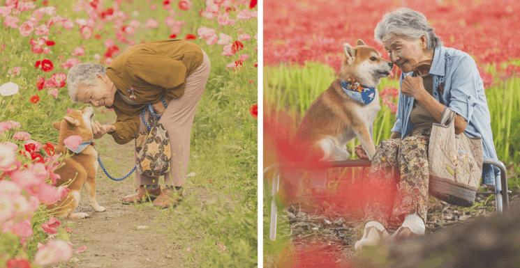 Фотограф снимает трогательные снимки своей бабушки и собаки (32фото)