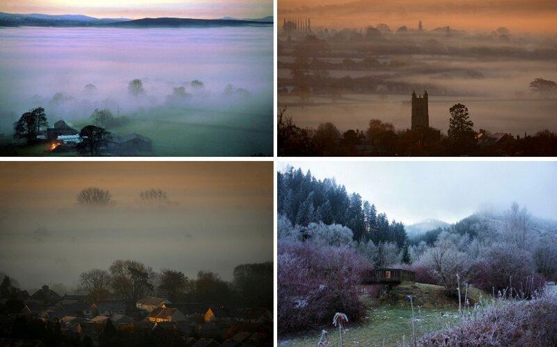 Красивые фотографии заморозков и туманов в Великобритании (13фото)