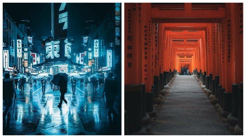 Ночь и день: потрясающие городские пейзажи из Японии (26фото)