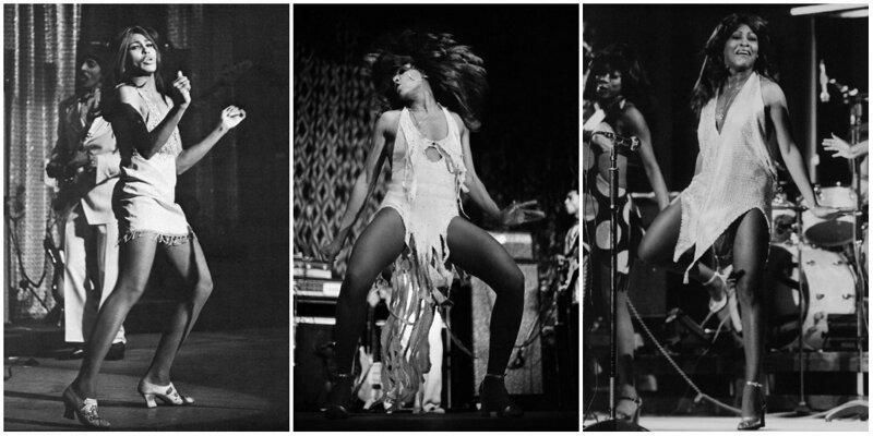 20 потрясающих черно-белых фотографий Тины Тернер на сцене (21фото)