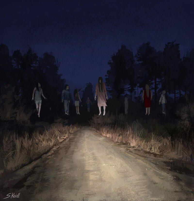 Лики смерти: тревожные картины Стефана Койдля (32фото)