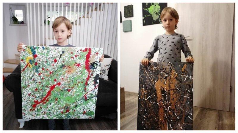 5-летний мальчик с аутизмом рисует особенные картины (21фото)