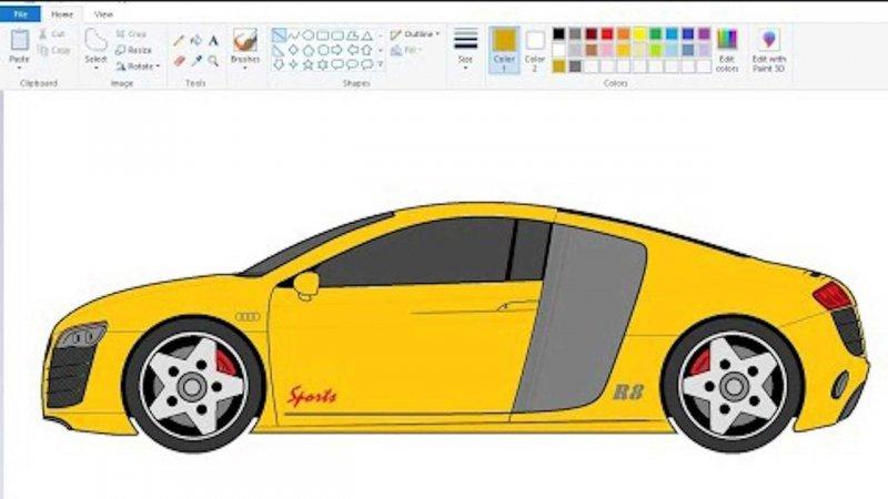 Этот парень рисует автомобили в Microsoft Paint, и они выглядят довольно неплохо (9фото+2видео)